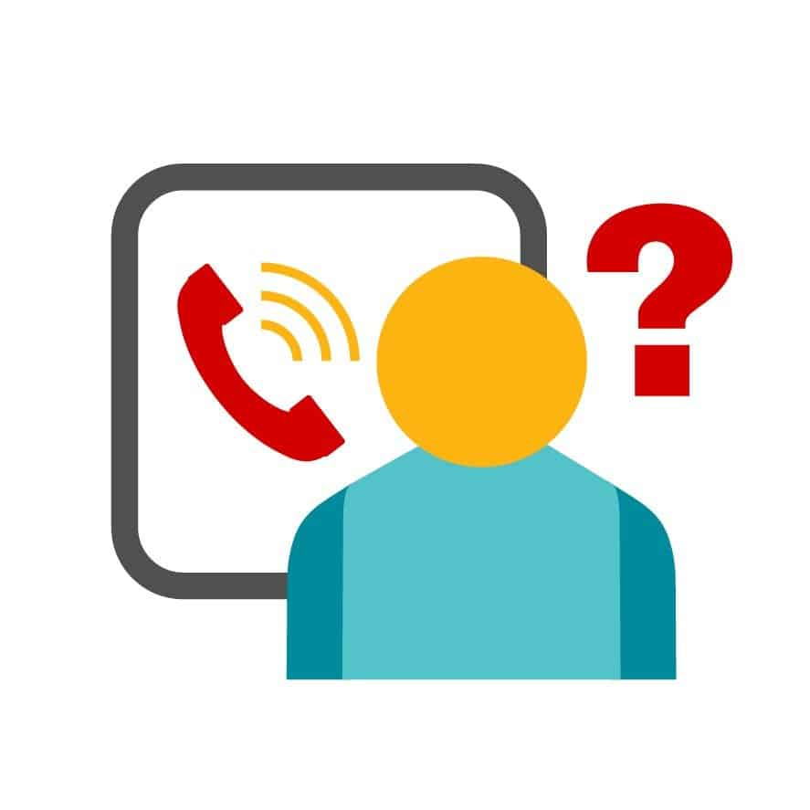 graphic of a person receiving an inbound call