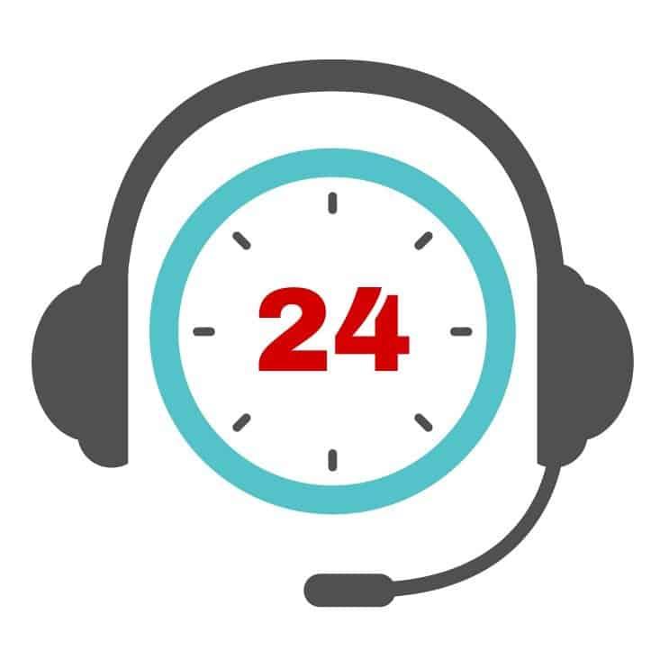 clock wearing a headset