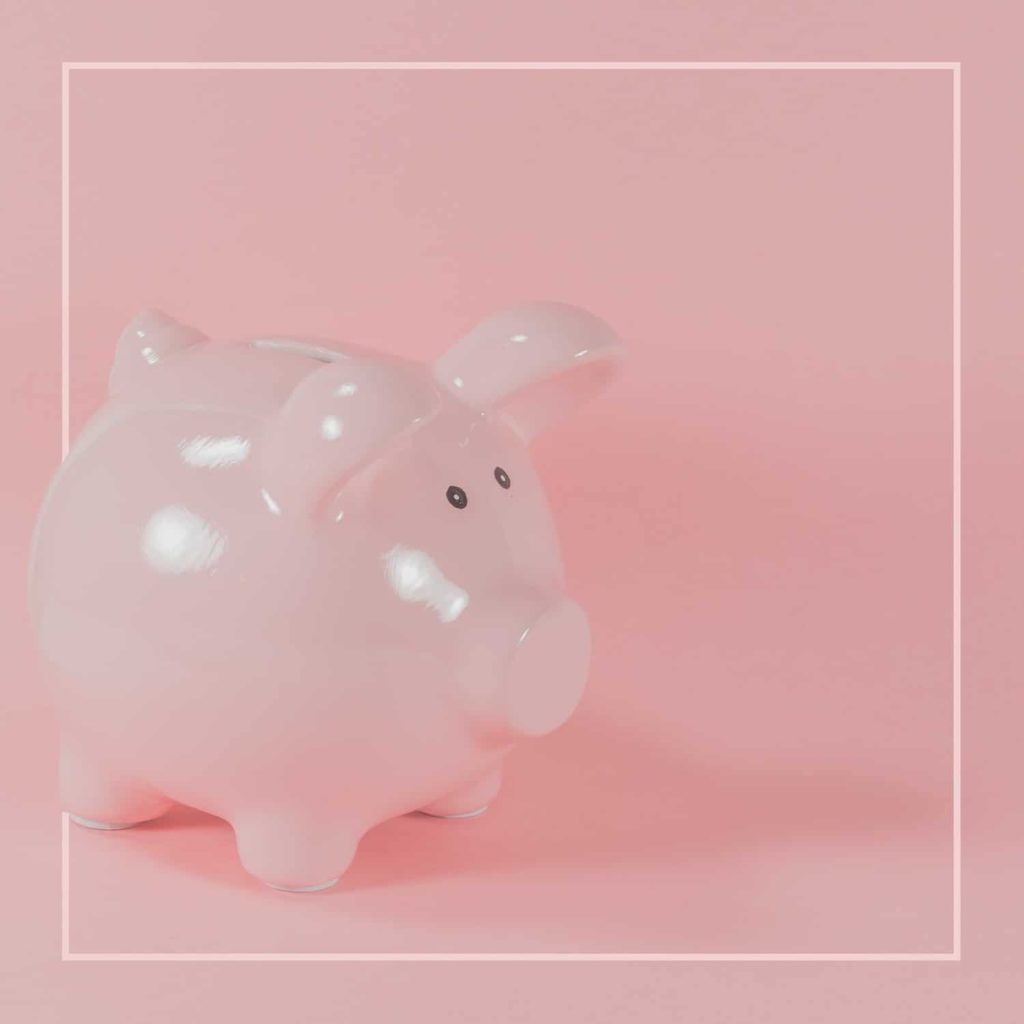 Small pink piggy bank